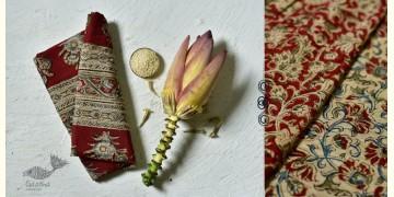 Haripriya .  हरिप्रिया ☘ Block Printed Cotton Saree ☘ Natural Dyed Kalamkari Design ☘ 5