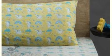 Rainboo ☁ Block Printed ☁ Dancing Unicorns Bedding Set- Blueberry - 10