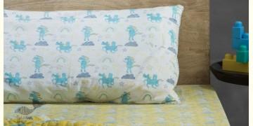 Rainboo ☁ Block Printed ☁ Dancing Unicorns Bedding Set- Sunny side up - 12