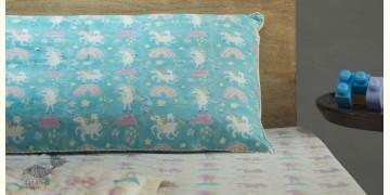 Rainboo ☁ Block Printed ☁ Mauve Unicorns Bedding Set - 11