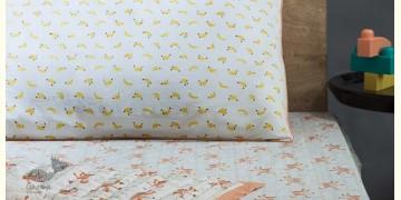 Rainboo ☁ Block Printed ☁ Monkeys on Bamboo Bedding Set-  Peach Apricot - 14