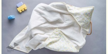Rainboo ☁ Block Printed ☁ Rainbows towel - Sunny Yellow -Towel - 36