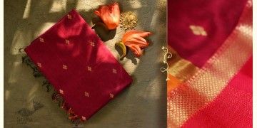 Ojovati ❢ Maheshwari ❢ Cotton Silk Saree with Zari Border ❢ 10