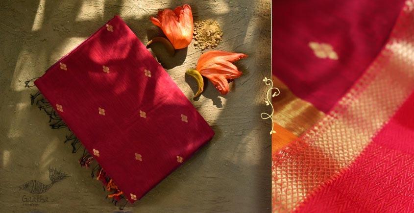 Ojovati ❢ Maheshwari ❢ Cotton Silk Saree with Zari Border ❢ 10
