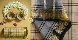 Iris ❢ Maheshwari Handloom ❢ Cotton Checks Saree ❢ 10