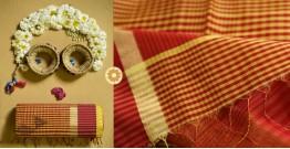 Iris ❢ Maheshwari Handloom  ❢ Cotton Checks Saree ❢ 6