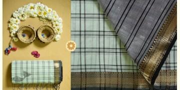 Iris ❢ Maheshwari Handloom ❢ Cotton Checks Saree ❢ 9