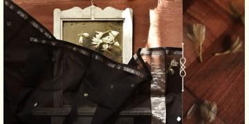 सुगंधिका ✻ Maheshwari ✻ Black Silver Zari Buti stole ✻ B 2
