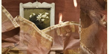 सुगंधिका ✻ Maheshwari ✻ Zari Border stole - Light Pink ✻ C 6