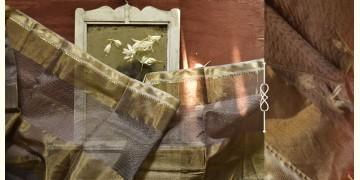 सुगंधिका ✻ Maheshwari ✻ Zari Border stole - Light Gray ✻ C 7