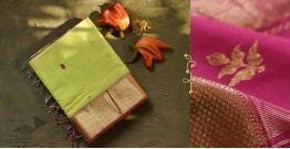 Ojovati ❢ Maheshwari ❢ Cotton Silk Saree with Zari Border ❢ 16