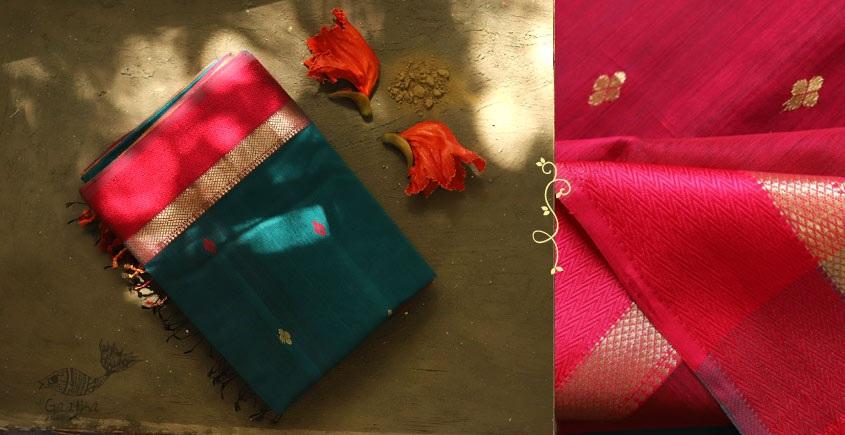 Ojovati ❢ Maheshwari ❢ Cotton Silk Saree with Zari Border ❢ 17