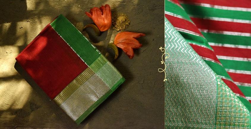 Ojovati ❢ Maheshwari ❢ Cotton Silk Saree with Zari Border ❢ 7