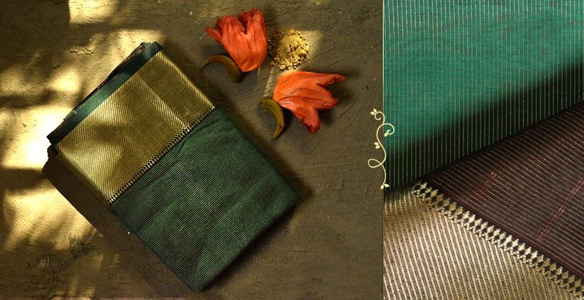 Ojovati ❢ Maheshwari ❢ Cotton Silk Saree with Zari Border ❢ 9