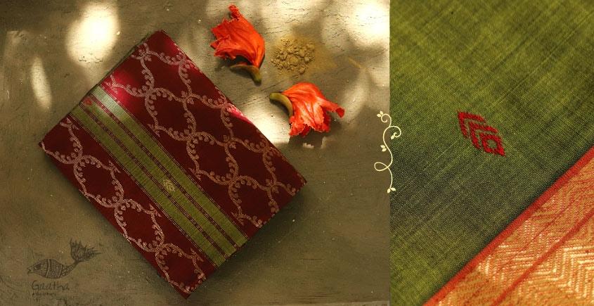 Ojovati ❢ Maheshwari ❢ Cotton Saree with Zari Border ❢ 24