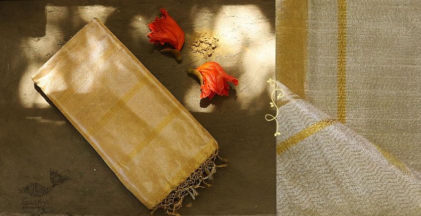 Ojovati ❢ Maheshwari ❢ Full Tussar Saree with Silver & Golden Weaving ❢ 25