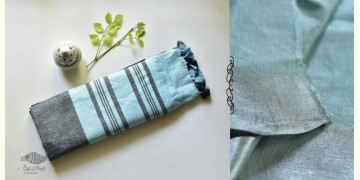 Kopal ❂ Handloom Linen Saree ❂ 3