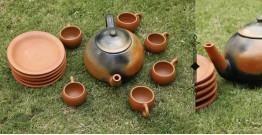 Rivayat ⧆ Handmade Terracotta ⧆ Designer Tea Set-Double Baked ⧆ 17