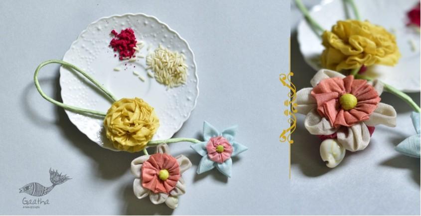 handmade chanderi fabric rakhi reusable