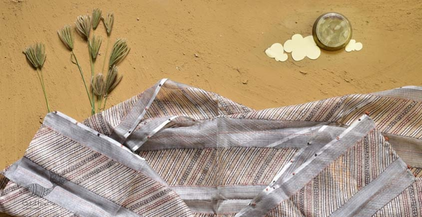 shop block printed kota silk embroidered Stole