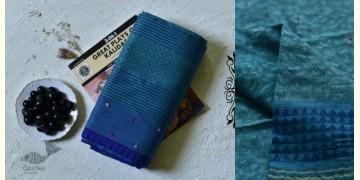 Iravati ✮ Block Printed Embroidered Cotton Silk Saree ✮ 9