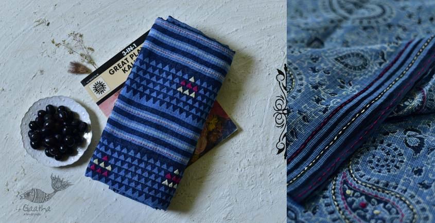 shop online Block printed Kota Doria Cotton Embroidered Saree