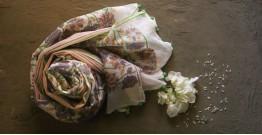 Rui Phool ✤ Kota Doria Cotton ✤ Embroidered Dupatta - 5