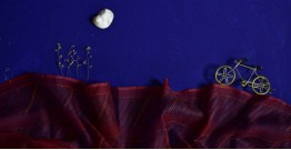 इत्तफाक ☼ Kota Doria Silk ☼ Embroidered Stole - 15