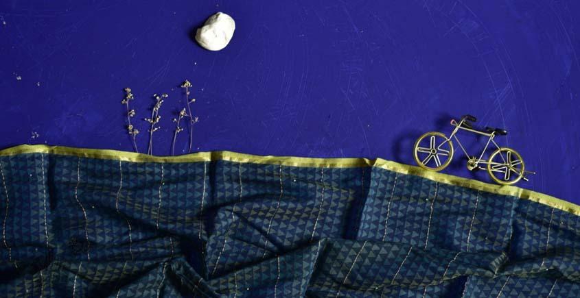 इत्तफाक ☼ Kota Doria Maheshwari ☼ Embroidered Stole - 26
