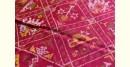 exclusive silk handwoven narikunj partola pink saree with heavy pallu