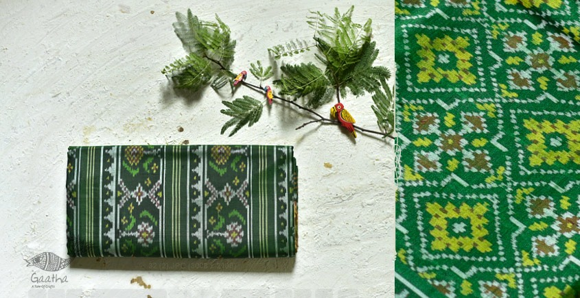 exclusive silk handwoven partola green saree