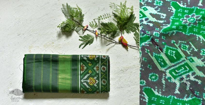 exclusive double ikat silk handwoven partola saree