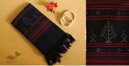 Gulmohar . गुलमोहर ⁂ Tangaliya Cotton Dupatta ⁂ Black (B) 24