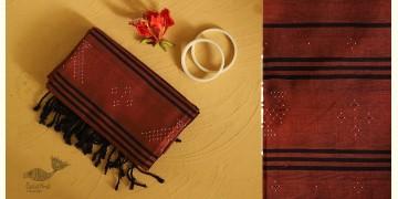 Gulmohar . गुलमोहर ⁂ Tangaliya Cotton Dupatta ⁂ Brown (M) 28