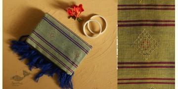 Gulmohar . गुलमोहर ⁂ Tangaliya Cotton Dupatta ⁂ Lime Green