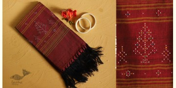 Gulmohar . गुलमोहर ⁂ Tangaliya Cotton Dupatta ⁂ Maroon (B) 20