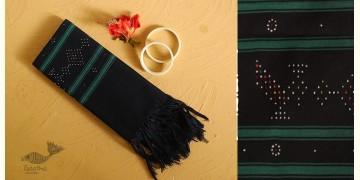 Gulmohar . गुलमोहर ⁂ Tangaliya Cotton Stole ⁂ Black (M) 11