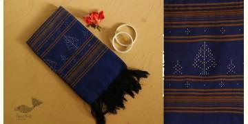 Gulmohar . गुलमोहर ⁂ Tangaliya Cotton Stole ⁂ Blue (B) 23