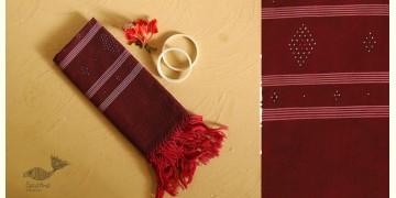Gulmohar . गुलमोहर ⁂ Tangaliya Cotton Stole ⁂ Maroon (M) 9