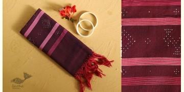 Gulmohar . गुलमोहर ⁂ Tangaliya Cotton Stole ⁂ Red Violet (M) 10