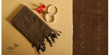 Gulmohar . गुलमोहर ⁂ Tangaliya ⁂ Cotton Stole ⁂ Dark Brown (S) 2