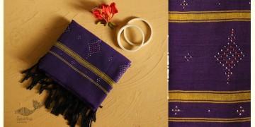 Gulmohar . गुलमोहर ⁂ Tangaliya ⁂ Cotton Stole ⁂ Purple (M) 25