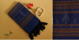 गुलमोहर ⁂ Tangaliya ⁂ Cotton Stole ⁂ Blue - (B)
