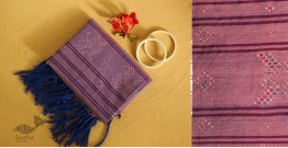 गुलमोहर ⁂ Tangaliya ⁂ Cotton Stole ⁂ Light Purple