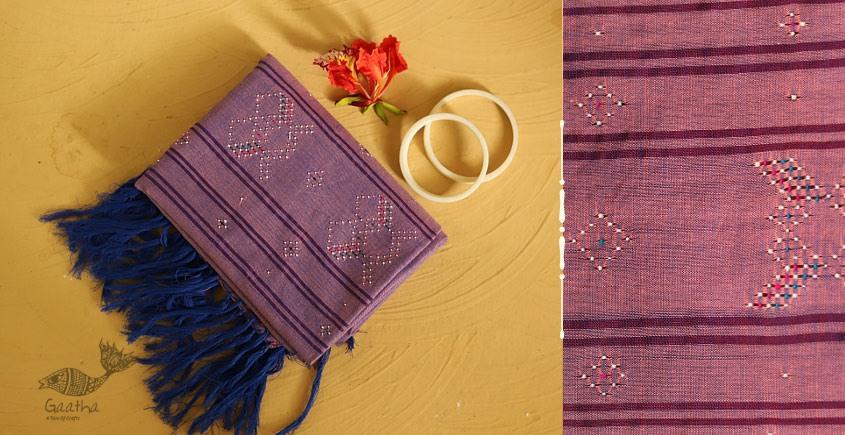 गुलमोहर ⁂ Tangaliya ⁂ Cotton Stole ⁂ Light Purple