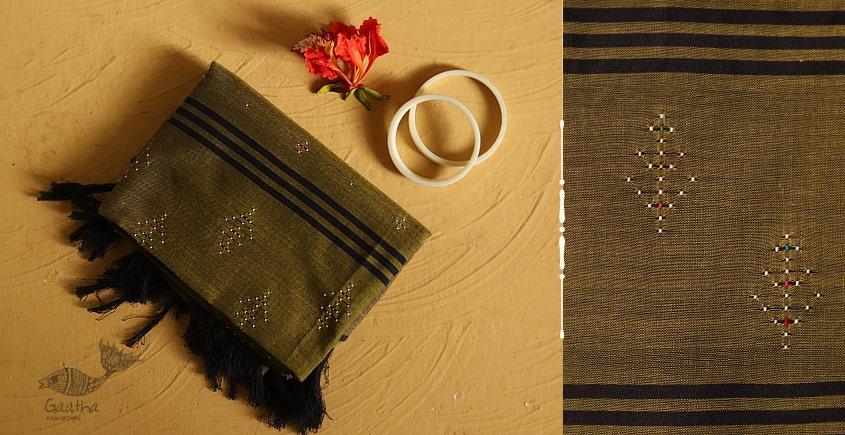 गुलमोहर ⁂ Tangaliya ⁂ Cotton Stole ⁂ Chutney Green