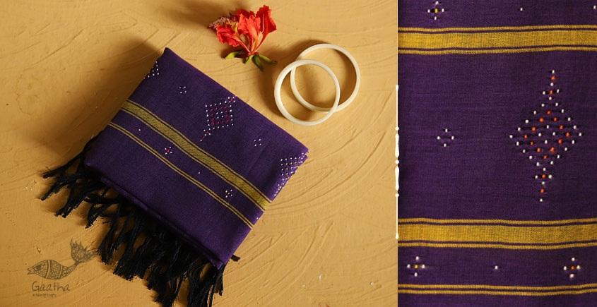 गुलमोहर ⁂ Tangaliya ⁂ Cotton Stole ⁂ Purple