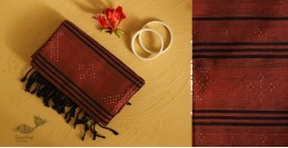 गुलमोहर ⁂ Tangaliya ⁂ Cotton Stole ⁂ Brown (M)
