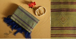 गुलमोहर ⁂ Tangaliya ⁂ Cotton Stole ⁂ Lime Green
