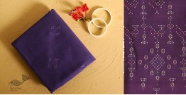 गुलमोहर ⁂ Tangaliya ⁂ Cotton Dress Material ⁂ Purple